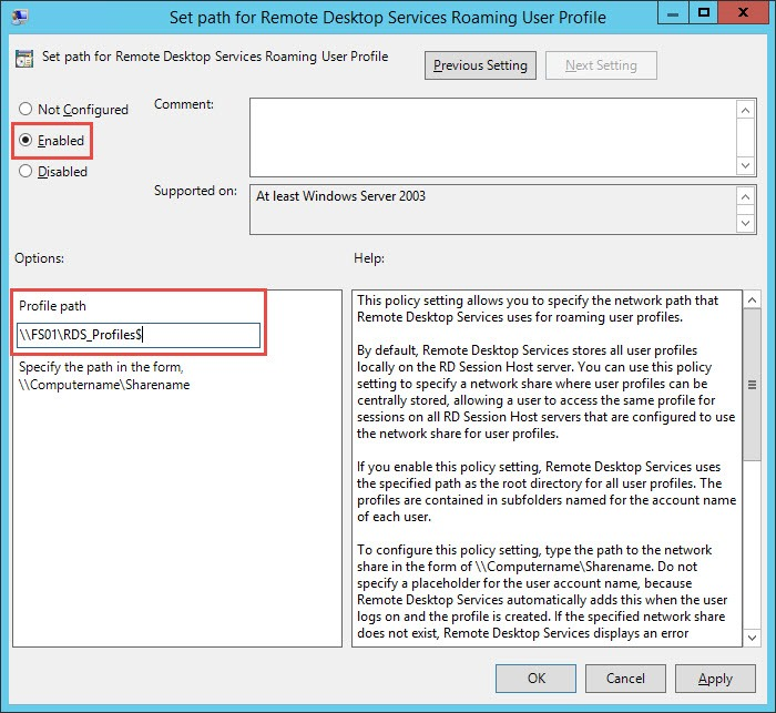 Configuring Roaming Profiles w/RDS Hosts in Horizon View 6